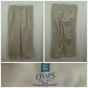 Chaps boys pants Size 18 Husky Khaki tan School
